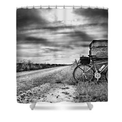 Bicycle Break Shower Curtain