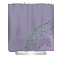 Bicycle Chain Ring - 1 Of 4 Shower Curtain by Serge Averbukh