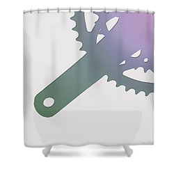 Bicycle Chain Ring - 3 Of 4 Shower Curtain by Serge Averbukh