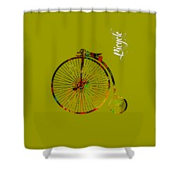 Bicycle Collection Shower Curtain