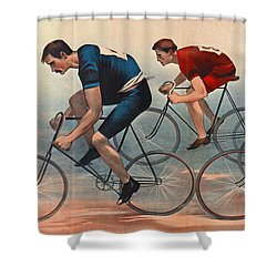 Shower Curtain featuring the photograph Bicycle Lithos Ad 1896nt by Padre Art