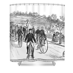 Bicycle Meet, 1883 Shower Curtain by Granger