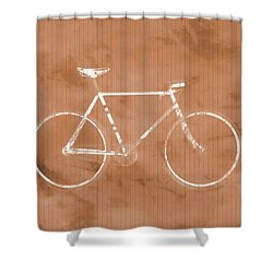 Bicycle On Tile Shower Curtain by Dan Sproul