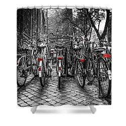 Bicycle Park Shower Curtain