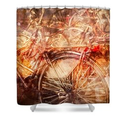 Bicycles In Amsterdam Shower Curtain