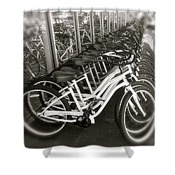 Bicycles In Belmont Shore Shower Curtain