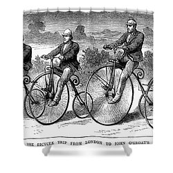 Bicycling, 1873 Shower Curtain by Granger