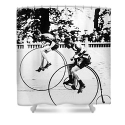 Bicycling Race, C1890 Shower Curtain by Granger