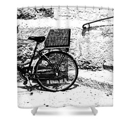 Bicyle In Cuitadella Shower Curtain