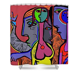 Bidding Shower Curtain