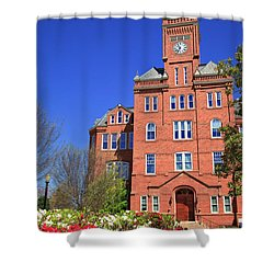 Biddle Hall In The Spring Shower Curtain