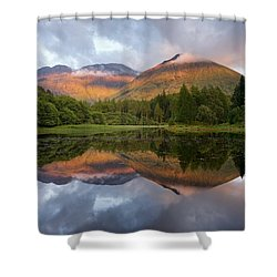 Bidean Nam Bian At Sunset Shower Curtain