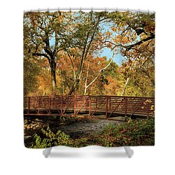 Shower Curtain featuring the photograph Bidwell Park Bridge In Chico by James Eddy