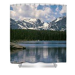 Bierstadt Lake Hallett And Otis Peaks Rocky  Mountain National Park Shower Curtain