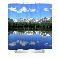 Bierstadt Lake In Rocky Mountain National Park Shower Curtain by Ronda Kimbrow