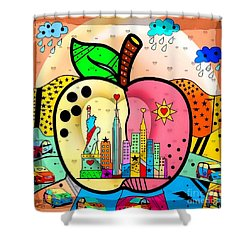 Big Apple By Nico Bielow Shower Curtain