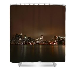 Big Apple Lights Shower Curtain by Evelina Kremsdorf