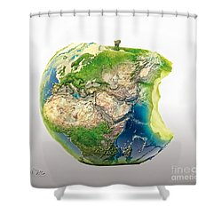 Big Apple Shower Curtain by Mo T