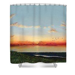 Big Assawoman Bay Shower Curtain