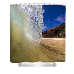 Big Beach Maui Shore Break Wave Shower Curtain