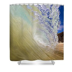 Big Beach Maui Shore Break Wave Wide  Shower Curtain