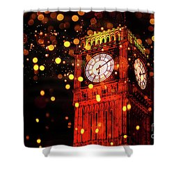 Big Ben Aglow Shower Curtain