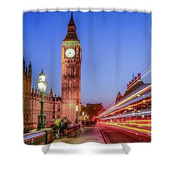 Big Ben By Night Shower Curtain