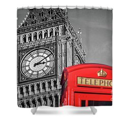 Shower Curtain featuring the photograph Big Ben by Delphimages Photo Creations