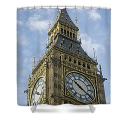 Big Ben Shower Curtain by Elvira Butler