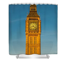 Big Ben Tower Golden Hour London Shower Curtain