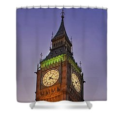 Shower Curtain featuring the photograph Big Ben Twilight In London by Terri Waters