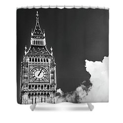 Big Ben With Cloud Shower Curtain