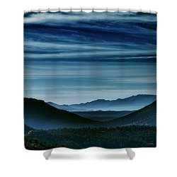 Big Bend At Dusk Shower Curtain