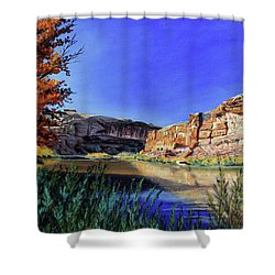 Big Bend On The Colorado Shower Curtain