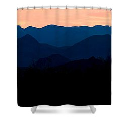 Big Bend Orange Blue Layers Shower Curtain