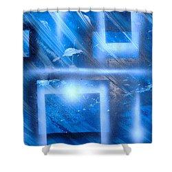 Big Blue II Shower Curtain