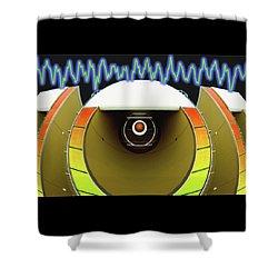Big Boom Box Shower Curtain