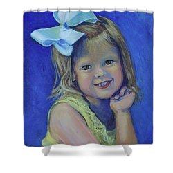 Big Bow Little Girl Shower Curtain