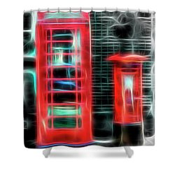 Shower Curtain featuring the photograph Big Box Little Box by Scott Carruthers