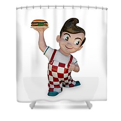 The Big Boy Shower Curtain by Gary Warnimont