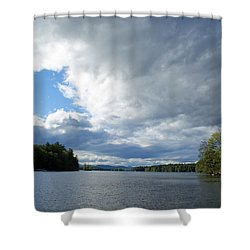 Shower Curtain featuring the photograph Big Brooding Sky by Lynda Lehmann