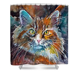 Big Cat Shower Curtain
