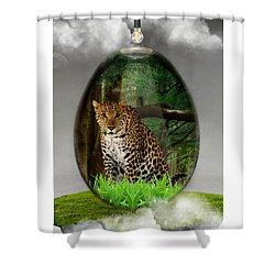 Big Cat Leopard Art Shower Curtain