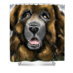 Shower Curtain featuring the digital art Big Dog by Darren Cannell