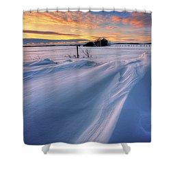Shower Curtain featuring the photograph Big Drifts by Dan Jurak