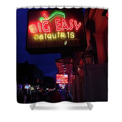 Big Easy Sign Shower Curtain