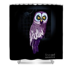 Big Eyed Owl Shower Curtain
