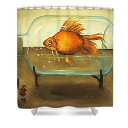 Big Fish Shower Curtain by Leah Saulnier The Painting Maniac