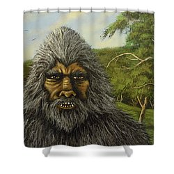 Big Foot In Pennsylvania Shower Curtain