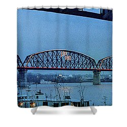Big Four Bridge Shower Curtain